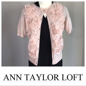 ANN TAYLOR LOFT Champagne Cardigan Size Small